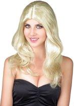 Blonde vrouwenpruik - Verkleedpruik