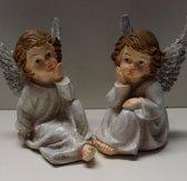 Set van 2 kerst engeltjes 10 cm.