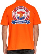 Holland Drinking Team poloshirt heren -  heren polo -  Koningsdag/supporters kleding 2XL