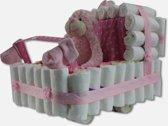 Kinderwagen Roze - Luiertaart