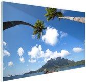 Bora Bora Oceanie Glas 90x60 cm - Foto print op Glas (Plexiglas wanddecoratie)