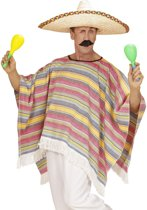 Veelkleurige Mexicaanse poncho voor volwassenen - Verkleedkleding