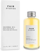 Jojoba Olie uit Panama - 100% Puur - 100% Biologisch - Haarolie - Huidolie - Koudgeperst - 100ML - FAIR STUDIOS - Gezichtsverzorging - Natuurlijke Etherische Basisolie - Jojoba Oil