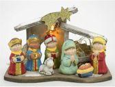Kerststal kinderen inkl. figuren en verlichting (7715)