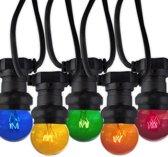 Calex gloeilamp Prikkabel 5.75 meter E27 15W 10 lampen 5 kleuren IP44