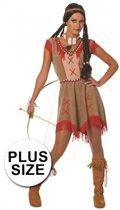 Grote maten indianen jurkje 44 (2xl) - indianen kostuum voor dames