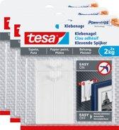Tesa 77776 Smart Mounting Klevende Spijker gevoelige oppervlakken 2 kg 3 stuks