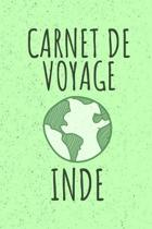 Carnet de Voyage Inde: Livre de vacances - 15,24cm x 22,86 cm, Format 6x9 - 110 pages � remplir - cadeau pour voyageurs -