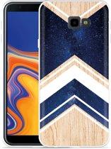 Galaxy J4 Plus Hoesje Space wood