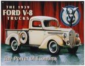 Metalen wandplaat Ford V-8 32 x 41 cm