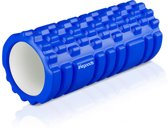 LifeGoods Grid Foam Roller – Trigger Point Massage - Fitness – Yoga – Pilates – Fascia – Bindweefsel - Soft – 33cm - Blauw