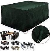 Beschermhoes voor tuinset - Tafel met 8 stoelen - 308 x 138 x 89 cm - Groen