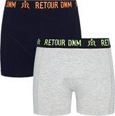 Retour Jeans Jongens Boxershorts 2pk - Dark Blue - Maat 116