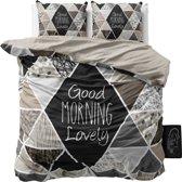 Sleeptime Crazy Morning - Dekbedovertrek - Lits-jumeaux - 240x200/220cm - Taupe