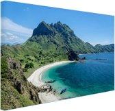 Uitzicht over Padar eiland Canvas 60x40 cm - Foto print op Canvas schilderij (Wanddecoratie)