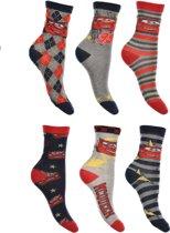 6 paar sokken Disney Cars maat 27-30
