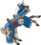 Papo Paard (blauw opgetuigd)