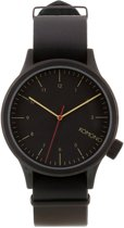 Komono Magnus Black Black KOM-W1900 - Horloge -Zwart -46 mm