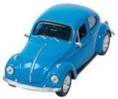 Welly Metalen volkswagen kever: 7,6 cm blauw