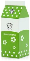 Mamamemo Pak Melk Hout 5 X 12 X 5 Cm Groen