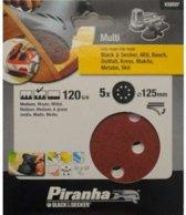 Piranha Schuurschijf  excentrische schuurmachine 125mm, 120K 5 stuks X32037