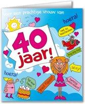 Paperdreams - Wenskaart - Cartoon - 40 Jaar - Vrouw