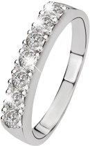 Lucardi Zilveren Ring - Met 7 Zirkonia - Maat 55