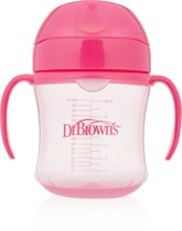 Dr. Browns Dr.Browns trainingsbeker zachte tuit 180 ml roze - Roos - 180ml