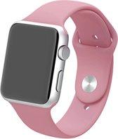 Apple watch 42mm / 44mm rubberen sport bandje - Baby roze