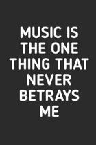 Music is The One Thing That Never Betrays Me: Manuscript paper for musicians, songwriters, composers, write down notes for beginner professional (With