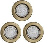 EGLO Igoa Inbouwspot - LED - Brons