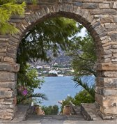 Tuinposter doorkijkje Griekenland