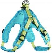 Hunter tuig voor hond neopreen vario quick groen / turquoise 55-70 cmx15 mm