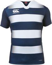Canterbury Vapodri Challenge Rugby Jersey Hooped Junior Sportshirt performance - Maat 152  - Unisex - blauw/wit