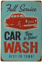 Signs-USA Car Wash - Retro Wandbord - Metaal - 30x20 cm