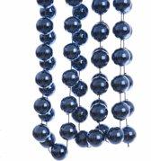 Kerst XXL kralen slinger blauw 270 cm
