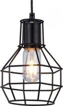 Vintage Cage Design - Hanglamp - Ø 18 cm - 2 meter kabel - Zwart