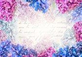Fotobehang Flowers Vintage | XXL - 312cm x 219cm | 130g/m2 Vlies