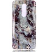 Mobigear Marmer Softcase Hoesje Grijs OnePlus 6