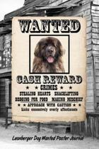 Leonberger Dog Wanted Poster Journal