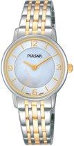Pulsar PRW027X1 horloge dames - zilver en goud - edelstaal