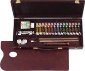 Rembrandt olieverf kist 16 tubes met accessoires - traditional