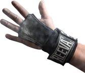 Reeva Kangaroo leather grips met geïntegreerde elastische wrist wraps - Geschikt voor Fitness en CrossFit - Small