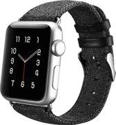 XOOMZ Katoenen bandje - Apple Watch Series 1/2/3 (42mm) - Zwart