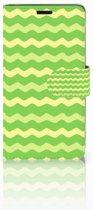 Lenovo C2 Power Boekhoesje Design Waves Green