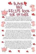 Blank BBQ Recipe Book For Father