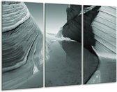 Glas schilderij Zand | Grijs, Groen | 120x80cm 3Luik | Foto print op Glas |  F006775