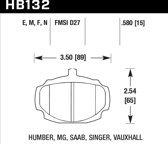 HB132F.580 - Hawk Performance HPS remblokken