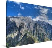 Uitzicht vanaf de Tijgersprongkloof in China Canvas 140x90 cm - Foto print op Canvas schilderij (Wanddecoratie woonkamer / slaapkamer)