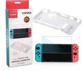 Nintendo Switch Siliconen TPU Case + Screen Protector Set - Beschermhoes